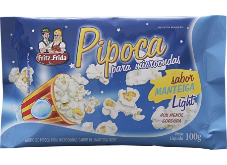 PIPOCA PARA MICRO-ONDAS MANTEIGA LIGHT 100G