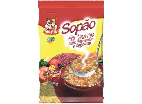 SOPÃO DE CARNE COM MACARRÃO E LEGUMES 190G