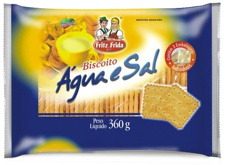 BISCOITO AGUA E SAL FRITZEFRIDA CX/10X360G