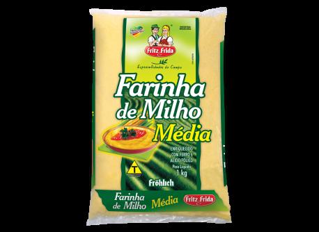 Farinha de Milho Grossa Farinha de Milho Média 1kg