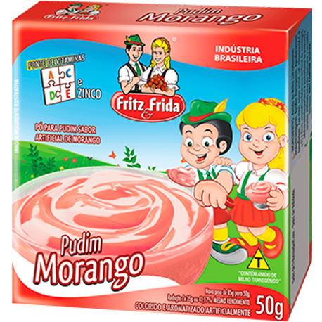 PUDIM DE MORANGO 1KG